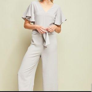 Pants - Light grey jumpsuit